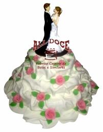 Bolo de Casamento Rosas1