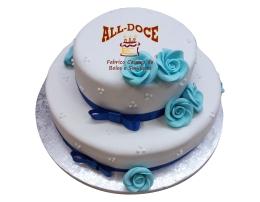 Bolo Aniversario Rosas Azuis1